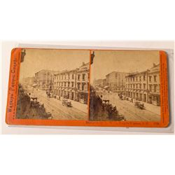 c.1874 Watkins Stereoview of San Francisco Wells Fargo Office