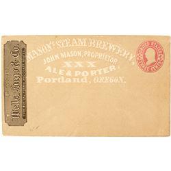 Mason's Steam Brewery Full Face Wells Fargo Cover, Portland, Oregon