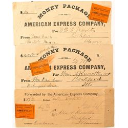 American Express Early Money Receipts with Adhesive Labels