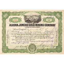 Alaska Juneau Gold Mining Co. Certificate