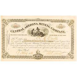 Central Arizona Mining Co. Stock Certificate, 1881