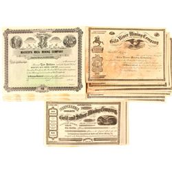 Early Arizona Mining Stock Certificates (34)
