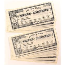 Feather River Canal Co. Stock Certificates (22)