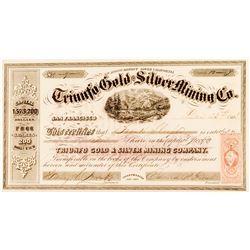Triunfo Gold & Silver Mining Company 1863 Stock Certificate