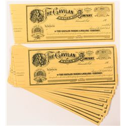 Gavilan Mining & Milling Co. Stock Certificates (28) (San Bernardino County)