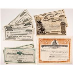 California Mining Stock Certificate Collection (10)