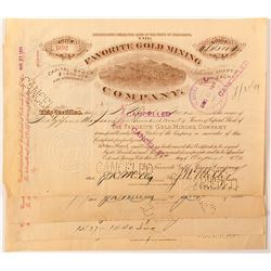 4 Favorite Gold Mine Co. Stock Certificates