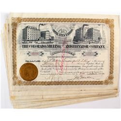 Colorado Mining and Elevator Co. Stock Certificates (13)