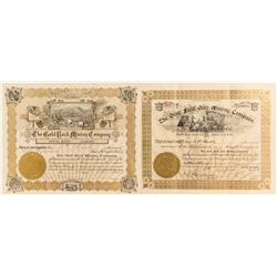 Two Choice Cripple Creek, Colorado Mining Stock Certificates