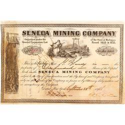Seneca Mining Company Stock Certificate, 1876