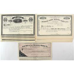 Early Montana Mining Stock Certificates (65+)