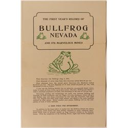Bullfrog First Year Mining Record (Promotional Booklet)
