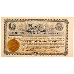 Jack Bell Gold Mining Co. Stock Certificate