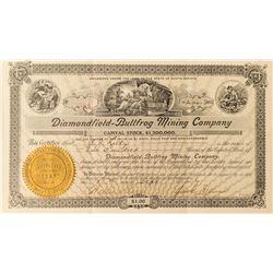 Diamondfield-Bullfrog Mining Co. Stock Certificate, 1906 (Ghost Town near Goldfield)