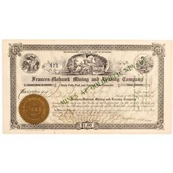 Frances-Mohawk Mining and Leasing Co. Certificate, Goldfield, 1905