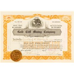 Gold Cliff Mining Co. Stock Certificate