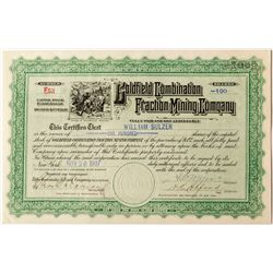 Goldfield Combination Fraction Mining Co. Stock Certificate Signed by Meyers
