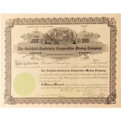 Goldfield-Candelaria Cooperative Mining Co. Stock Certificate, 1915