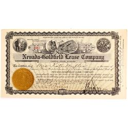 Nevada-Goldfield Lease Company Stock Certificate signed by George Nixon