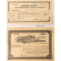Silver Pick Mines Stock Certificates, Goldfield, Nevada