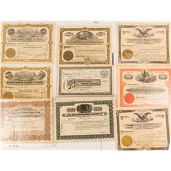 Tonopah Stock Mining Certificate Assortment