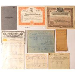 Tonopah Mining Stock Certificates & Ephemera