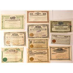 Tonopah Mining Stock Certificates (10)