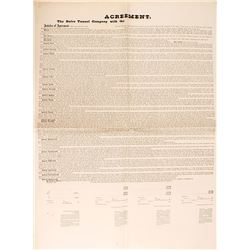 1866 Agreement Broadside, The Sutro Tunnel Company