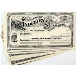 Industry Gold & Silver Mining Company Stock Certificates (24)