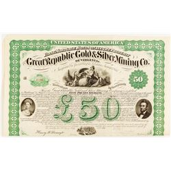 Great Republic Gold & Silver Mining Co. Of Virginia Bond, 1867