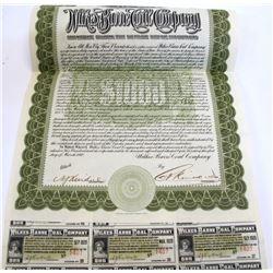 Wilkes Barre Coal Company Bond, New Jersey, 1910