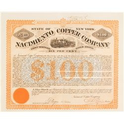 Nacimiento Copper Company Bond, 1881, New Mexico