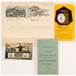 Mining Scales Ephemera (Billheads, Catalogs, Trade Card)