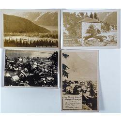 Four Real Photo Postcards of Hyder, Alaska