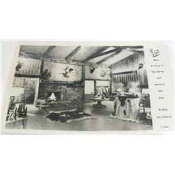Wiltsie's Taxidermy and Western Den Shop, Bishop, California, Real Photo Postcard
