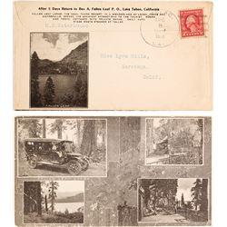 Pictorial Fallen Leaf Lake Advertising Cover