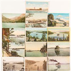 Postcards of Steamers on Lake Tahoe