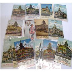 Sing Chong and Sing Fat Advertising Postcards