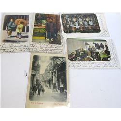 Six Very Early San Francisco Chinatown Postcards