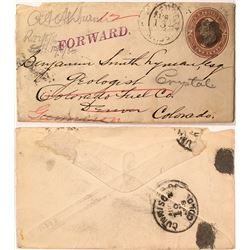 Crystal, Colorado Addressed Envelope to Engineer B. S. Lyman
