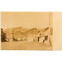 Amazing Kellogg, Idaho Early Dirt Covered Main Street RPC