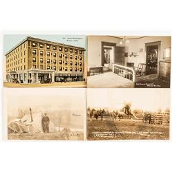 Four Weiser, Idaho Postcards (3 RPCs)