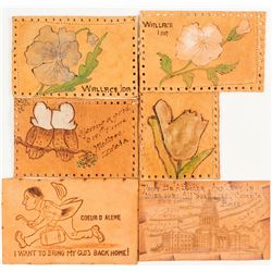 Six Idaho Leather Postcards