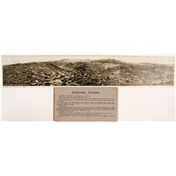 Rare 3-Panel Real Photo Panoramic Postcard of Rawhide, Nevada