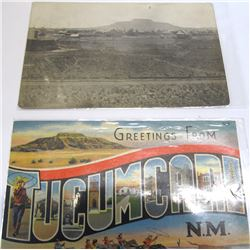 1911 Tucumcari RPC of the Town from Its Outskirts Plus One Other