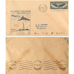 First Flight Trans-Atlantic Mail Service, 1939