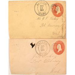 Two Early Double Ring Leland, Washington Covers