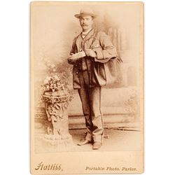 c.1890s Cabinet Card of Mail Carrier