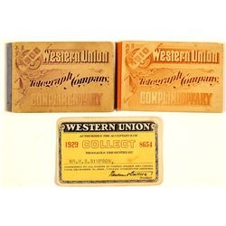 Western Union Adhesive Stamp Books & Pass