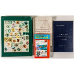 Four Philatelic Volumes: FDC's. Postmarks, cancellations, postmaster postmarks, killers, etc.